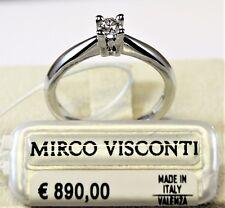 Anello oro bianco 18kt 750/°°° MIRCO VISCONTI con Diamante Solitario  AL31/20