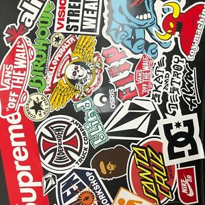 Skateboard Sticker Bomb! 25+ Stickers Surf Skate Scooter Mobile FREE P+P - Ref4