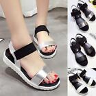 Womens Open Toe Ankle Strap Flat Roman Sandals Platform Shoes Wedges JJ
