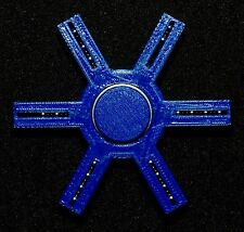 FIDGET SPINNER BLUE SIX ARM BONES REDS EDC FINGER SPINNING ONE HAND TOP TOY