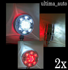 2x LED INTERMITENTE LATERAL ESPEJO Luces Cromo Rojo Blanco Camión trailer Daf