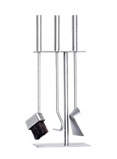 Hansa Premium Fireplace Tool Set(3 Parts)Square Hanger,Fire Tools Stainless Stee