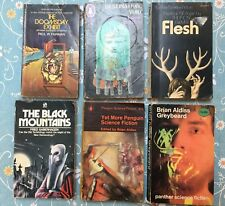 6 Vintage 1960s to 1970s Science Fiction Paperbacks 2 Penguin 1 first edition