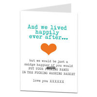 Rude Funny Anniversary Card BF Boyfriend Husband Humour Cheeky Joke