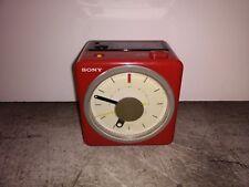 Vintage Sony ICF-A10W Red Clock Radio Vivaldi's Four Seasons Overture Works