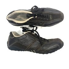 Perry Ellis America Franklin Dark Brown Leather Lace Up Driving Shoes Mens 12