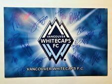 2019 MLS VANCOUVER WHITECAPS TEAM SIGNED SOCCER LOGO PHOTO W/PROOF MONTERO HWANG
