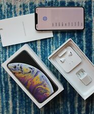 ***Fresh*** Apple iPhone XS Max 512GB Silver AT&T A1921 CDMA GSM + Leather Case