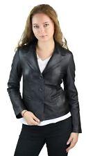 100% Ladies Leather Jacket Blazer Style  Slim Fit Retro 3 button blazer