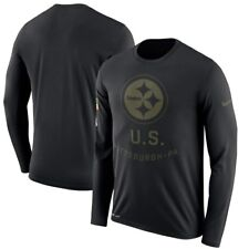 5ca1bf61 Nike Pittsburgh Steelers 2018 Salute to Service Legend T-shirt Mens Size L
