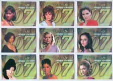 """FEMME FATALES """"COMPLETE 9 CARD INSERT SET F10 TO F18"""" JAMES BOND MISSION LOGS"""