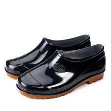 Women's Mens Anti Slip Waterproof Rubber Low Ankle Rain Boot Garden Work Shoes