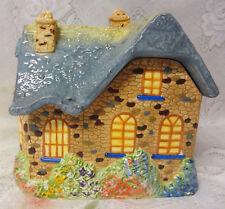 Vintage Christmas Gift Thomas Kinkade Cookie Jar Garden Cottage Village House
