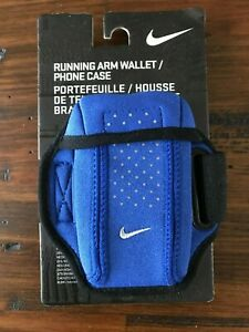 New Nike Running Arm Wallet Case Royal Blue Black Adult Unisex OSFM
