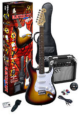 SX 3/4 ELECTRIC GUITAR PACKAGE TOBACCO SUNBURST - CHILDREN / TRAVEL GUITAR