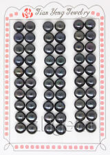 30Pairs Half Drilled Genuine Black Pearl For Earring Gem Stone 8-8.5mm