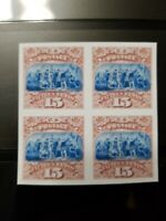 US Stamps SC #118 1869 15C Landing of Columbus Block Facsimile Copy Place Holder