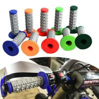 "Motorcycle Soft Rubber 22mm 7/8"" Hand Grips Handle Bar For MX Pit Dirt Bike"