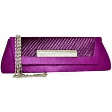 New! Women Satin Pleated Evening Bag Party Clutch Purse