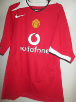 Manchester United 2004-2006 Home Football Shirt Size Large Boys /13643