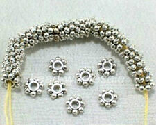 300Pcs Antique Flower Shaped Silver/Golden/Bronze Daisy Findings Spacer Bead 6mm