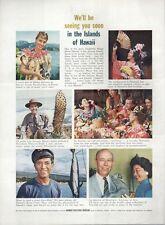 1962 Hawaii Visitors Bureau Various activities to do PRINT AD