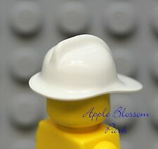 NEW Lego City WHITE FIREFIGHTER HELMET -Fireman Minifig Head Gear Fire Chief Hat