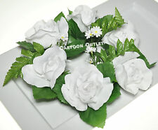 6 Candle Rings Wedding Party Centerpieces Wedding Silk Flowers Table Decoration