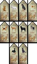 Novelty Dog Signs Gift Tags Various Breeds Set B