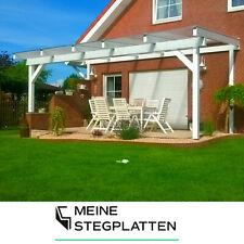 16mm Stegplatten Komplettdach / Terrassendach inkl Zubehör klar, opal und bronce