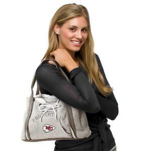 Kansas City Chiefs Purse Hoodie Handbag NFL Ladies Embroidered Logo