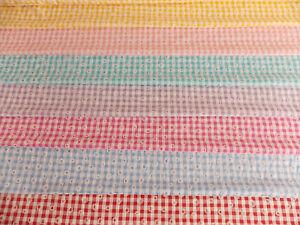 Daisy Puff Gingham Cotton Rich fabric