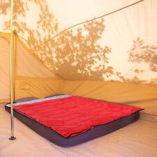 Outsunny 4-Season Double Sleeping Bag Camping Envelope Bag Mattress Outdoor Red