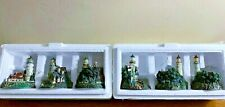 Thomas Kinkade's Illuminated Lighthouse Ornaments Lot of 6