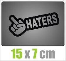 BordeI Haters autocollant JDM style sticker OEM tuning autocollant stickerbomb Noir
