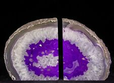 8.5Lbs Agate Bookends Geode Crystal Polished Brazil Specimen