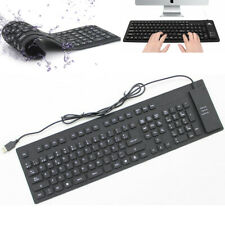 Flexible Silicone Keyboard USB Mini Foldable Keyboard for Laptop Notebook