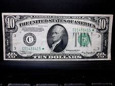 1934-A $10 FEDERAL RESERVE STAR NOTE ✪ XF EXTRA FINE ✪ L@@K NOW 415 ◢TRUSTED◣
