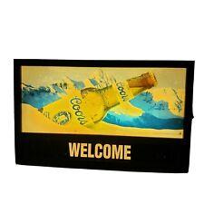 "1992 Coors Beer Bar Light Welcome Sign 25 3/4"" X15 3/4"" Vintage Works Man Cave"