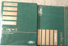 1993 Ford Mercury Capri Service Reparatur Shop Manuell W Elektrisch Wiring Buch