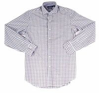 Polo Ralph Lauren Mens Shirt Blue Medium M Classic Fit Plaid Button Down $89 357