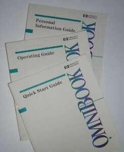 HP OmniBook 600C 600CT Original Operating Guide Docs Users Manual Set Vintage