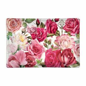 Michel Design Works Glass Trinket / Soap Dish Royal Rose Pinks