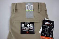 NWT DOCKERS Size 30x32 Mens Flat Front STRAIGHT FIT PERFORMANCE KHAKI Dress Pant