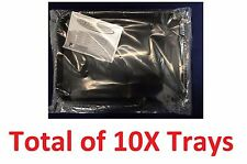Plasdent Dental Instrument Flat Setup Trays Size B Black 10/Pack FDA