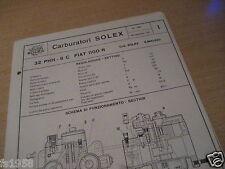 Fiat 1100 R, Solex 32 PHH - 9 C Carburettor Plan