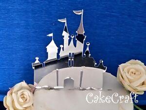 Acrylic Disney princess castle birthday,wedding cake topper decorations