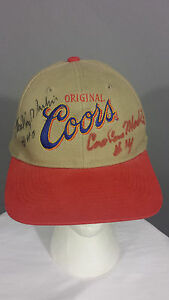 Vintage Original Coors NASCAR Sterling Marlin & Coo Coo Marlin Cap Hat signed