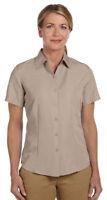 Harriton Women's Casual Wrinkle Resistant Short Sleeve Camp Shirt. M560W