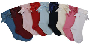 Socks BOWS Spanish style 3/4 knee baby girl boy romany 0-6 years